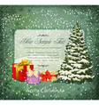 vintage festive invitation vector image vector image