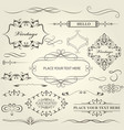 vintage frames vignettes and calligraphy dividers vector image vector image