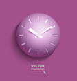 volumetric clock in paper style vector image vector image
