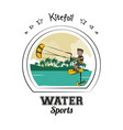 water sports cartoon vector image vector image
