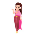 women in thai traditional dress traditional vector image vector image