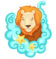 Zodiac signs - Lion vector image vector image