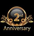 2nd anniversary birthday in gold