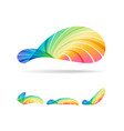 abstract design elements set multicolored shapes vector image vector image