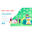 achivement goals using time management vector image vector image