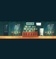 bar in evening metropolis cartoon interior vector image vector image