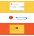 beautiful basketball logo and business card vector image vector image
