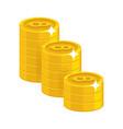 bitcoin golden stack vector image vector image