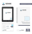 boat business logo tab app diary pvc employee vector image vector image