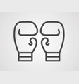 boxing gloves icon sign symbol vector image vector image
