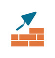 brick with trowel symbol vector image
