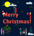business and families celebrate merry christmas vector image vector image