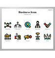 business icons linecolor pack vector image vector image