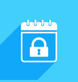 calendar icon with padlock sign vector image