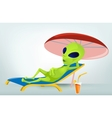 Cartoon Vacation Alien vector image vector image