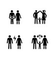 child custody glyph icons set vector image vector image