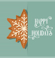 christmas card with gingerbread star vector image vector image
