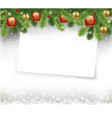 christmas letter with traditional decorations vector image