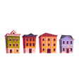 city houses old buildings for apartments vector image