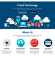 cloud technology website design vector image vector image