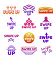 collection swipe up buttons with arrows vector image