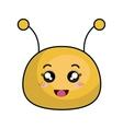 cute bee stuffed icon vector image vector image