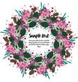 design of card with floral wreath vector image vector image