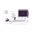 desk and office supplies design vector image vector image