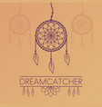 dreamcatcher poster on gradient background vector image vector image