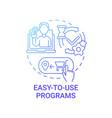 easy-to-use programs concept icon vector image