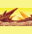 fantastic mountain landscape dry planet vector image vector image