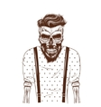 fashion zombie dressed in t-shirt vector image vector image