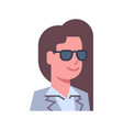 Female wearing sunglasses emotion icon isolated