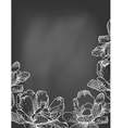 flowers on chalkboard vector image vector image