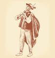 Folk Musician vector image vector image