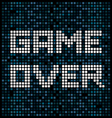 Game Over text on a pixel background vector image