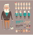 grandfather collection builder vector image vector image