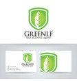 green leaf finance logo design vector image vector image