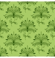 Green paisley seamless floral pattern vector image vector image