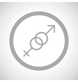 Grey gender sign icon vector image vector image