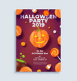 halloween party layout poster or flyer template vector image