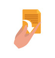 hands with files isolated icon vector image