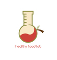 healthy food lab design template with fruits vector image