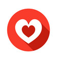 heart stylish icon vector image