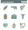 Icons line set premium quality of healthcare vector image