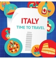 Italy background template vector image
