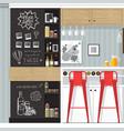 kitchen bar interior vector image vector image