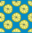 lemon pattern hand drawn vector image