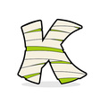 Letter K Monster zombie Mummy ABC icon vector image vector image