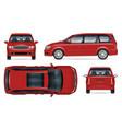 minivan mockup isolated vehicle template vector image vector image